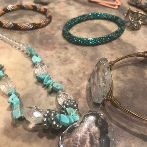 Jewelry - Jewlery bundle turquoise crystal bracelet necklace